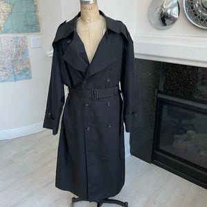 Vintage Christian Dior trench coat jacket black 40